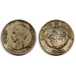 (213) Colombia. 1953. 20 Centavos (BC) (Plata)