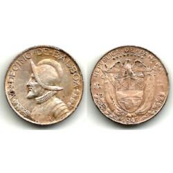 (10.1) Panamá. 1947. 1 Décimo (BC+) (Plata)