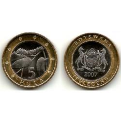 (30) Botswana. 2007. 5 Pula (SC)
