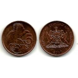 (30) Trinidad y Tobago. 2007. 5 Cents (SC)