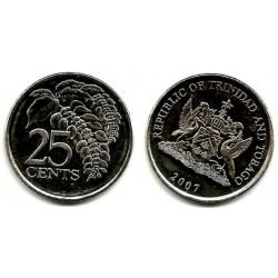 (32) Trinidad y Tobago. 2007. 25 Cents (SC)