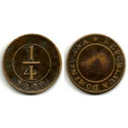 (2) República Dominicana. 1848. ¼ Real (MBC)