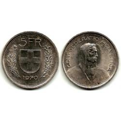 (40a.1) Suiza. 1970. 5 Francs (MBC)