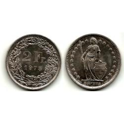 (21a.1) Suiza. 1975. 2 Francs (MBC+)