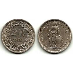 (21a.1) Suiza. 1970. 2 Francs (MBC)