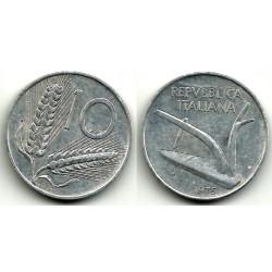 (93)  Italia. 1975(R). 10 Lira (MBC)