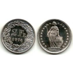 (21a.1) Suiza. 1974. 2 Francs (SC)