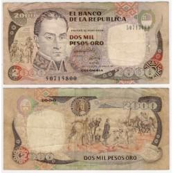 (433Aa) Colombia. 1992. 2000 Pesos (BC+)
