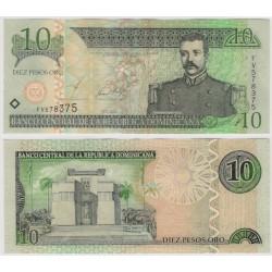 (168b) República Dominicana. 2002. 10 Pesos Oro (EBC)