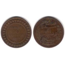 (229) República Tunecina. 1908. 10 Centimes (BC+)