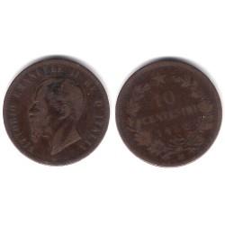 Italia. 1862(M). 10 Centesimi (BC)