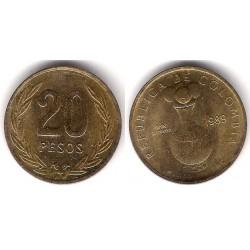 (271) Colombia. 1989. 20 Pesos (SC)
