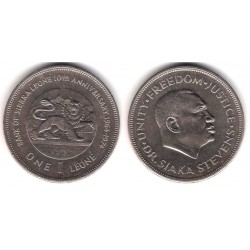 (26) Sierra Leona. 1974. 1 Leone (EBC+)