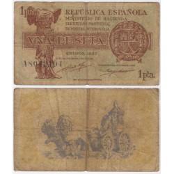 España (II República). 1937. 1 Peseta (BC) Serie A