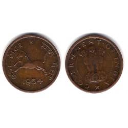 (1.4) India. 1954. 1 Pice (SC)