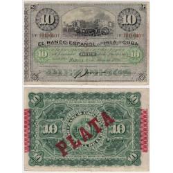 C. Colonial. 1896. 10 Pesos (MBC)