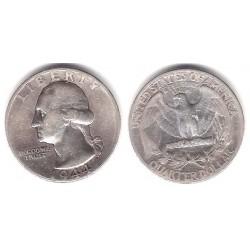 (164) Estados Unidos de América. 1944. Quarter Dollar (BC) (Plata)