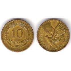 (191) Chile. 1966. 10 Centesimos (MBC)