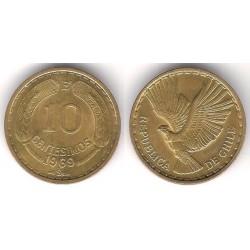 (191) Chile. 1969. 10 Centesimos (SC)