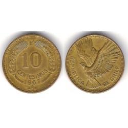 (191) Chile. 1967. 10 Centesimos (MBC)