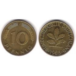 (108) Alemania. 1988(F). 10 Pfennig (MBC)