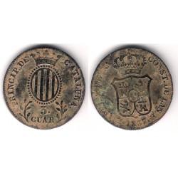 Isabel II. 1837. 3 Cuartos (BC-) Ceca de Cataluña