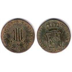 Isabel II. 1838. 3 Cuartos (BC) Ceca de Cataluña