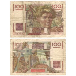 (128a) Francia. 1945L. 100 Francs (RC+) Roturas