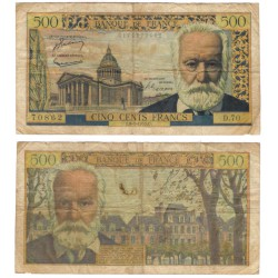 (133a) Francia. 1955. 500 Francs (BC) Pequeños Agujeros