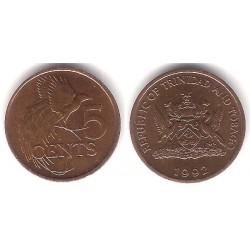 (30) Trinidad y Tobago. 1992. 5 Cents (MBC+)