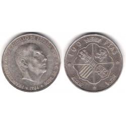 Estado Español. 1966*(19-66). 100 Pesetas (BC+) (Plata)