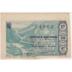 Décimo. 15 de Febrero de 1965. Ruta del Quijote, Paraje en Sierra Morena