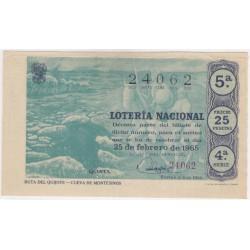 Décimo. 25 de Febrero de 1965. Ruta del Quijote, Cueva de Montesinos