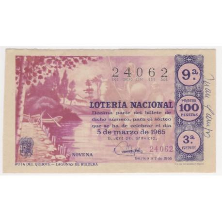 Décimo. 5 de Marzo de 1965. Ruta del Quijote, LAgunas de Ruidera