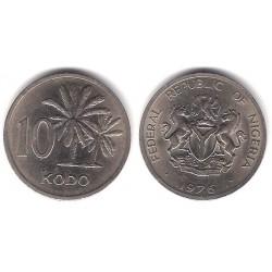 (10.1) Nigeria. 1976. 10 Kobo (EBC)