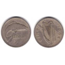 (15a) Irlanda. 1964. 1 Florin (BC+)