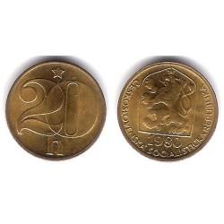 (74) Checoslovaquia. 1980. 20 Haleru (SC)