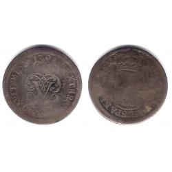 Felipe V. 1708. 2 Reales (BC) (Plata) Ceca de Segovia