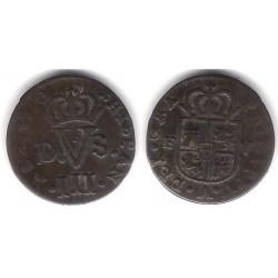 Felipe V. 1710. Treseta (MBC) Ceca de Valencia