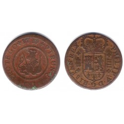 Felipe V. 1719. 4 Maravedi (BC+) Ceca de Segovia