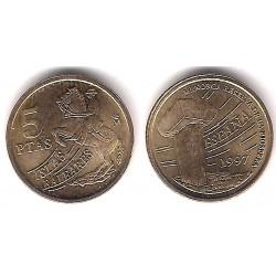 España. 1997. 5 Pesetas (SC) Variante 5 Patas