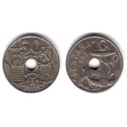Estado Español. 1963*(19-65). 50 Céntimos (BC) Exceso de Metal