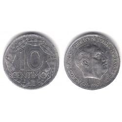 Estado Español. 1959. 10 Céntimos (BC) Exceso de Metal