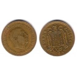 Estado Español. 1966*(19-67). 1 Peseta (BC) Marcas en el cuño