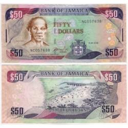 (83c) Jamaica. 2008. 50 Dollars (MBC)