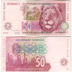 (125c) Sudáfrica. 1992-99. 50 Rand (EBC+)