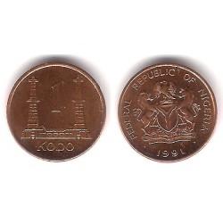 (8.2a) Nigeria. 1991. 1 Kobo (SC)