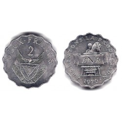 (10) Ruanda. 1970. 2 Francs (EBC+)