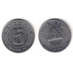 (28) Nicaragua. 1974. 5 Centavos de Córdoba (SC)