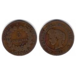 (821.1) Francia. 1884(A). 5 Centimes (BC+)